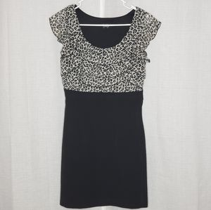 by & by Black and White Leopard Print Mini Dress